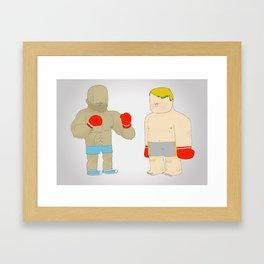 Two Boxers Framed Art Print