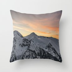 Peaks II Throw Pillow