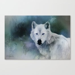 White Wolf Winter Canvas Print