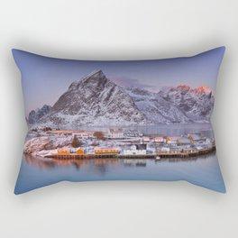Reine on the Lofoten islands in northern Norway in winter Rectangular Pillow
