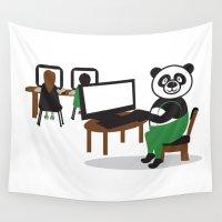 teacher Wall Tapestries featuring Panda Teacher by WCVS Online