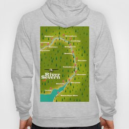 River Severn England Wales travel poster Hoody