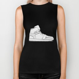 sneaker illustration pop art drawing - black and white graphic Biker Tank