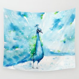 Peacocking Around Wall Tapestry