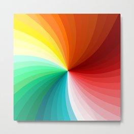 Multi Color Abstract Design Metal Print