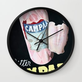 Vintage Italian Campari Bitters Advertisement Wall Clock