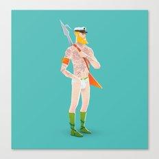 Rocker Aquaman blue Canvas Print