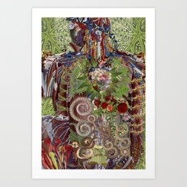 synergy anatomical collage art by bedelgeuse Art Print