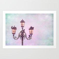 MAGICAL VENICE   Pink Lanterns Art Print