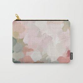 Forest Green Fuchsia Blush Pink Abstract Flower Spring Painting Art Tasche
