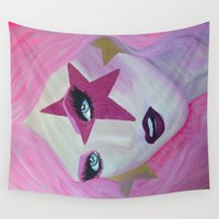 jem Wall Tapestries featuring Jem Star by Clare Chapman