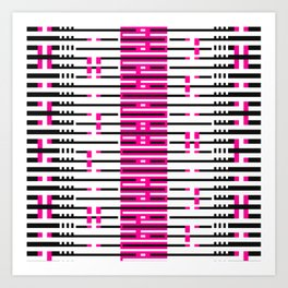 Licorice Bytes, No.10 in Black and Pink Art Print