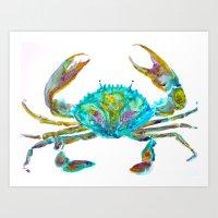 Colourful Crab Art Print