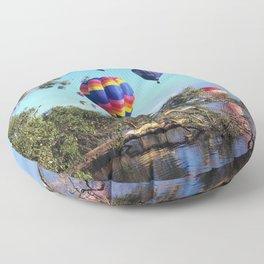 Hot air balloon scene Floor Pillow
