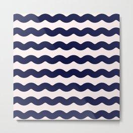Winter 2018 Color: Ultra Blue Moon on Millennial Pink Waves Metal Print