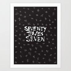 Seventy x Seven Art Print