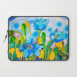 Blue Poppies 1 of Belize Laptop Sleeve