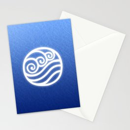 Avatar Water Bending Element Symbol Stationery Cards