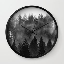 Charcoal Forest Fog - 26/365 Wall Clock