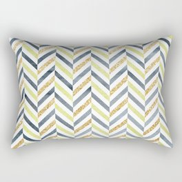 Watercolor & Glitter Chevron Rectangular Pillow