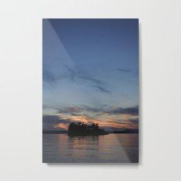 Sunset Behind Freeman Island Metal Print