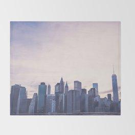 Lower Manhattan Skyline Throw Blanket