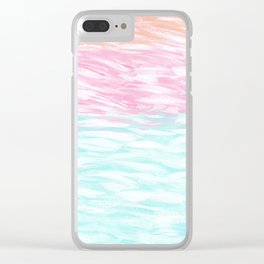 Tahitian Sunset Clear iPhone Case