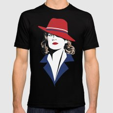 Peggy Carter Black LARGE Mens Fitted Tee