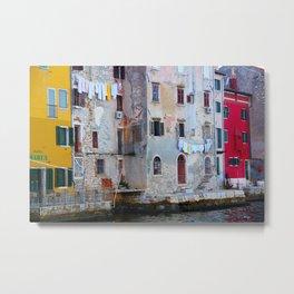 The Essence of Croatia - Pastel Houses of Rovinj Metal Print