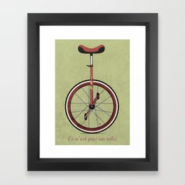 Unicycle Framed Art Print