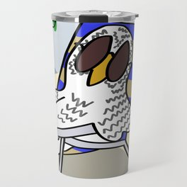 Beach Owl Travel Mug