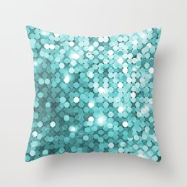 Mermaid glitter Throw Pillow