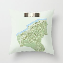 Map of the people's republic of Majorna Throw Pillow