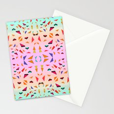 Triangle Tropical Confetti  Stationery Cards