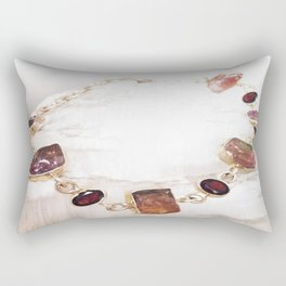 Watermelon Tourmaline Rectangular Pillow