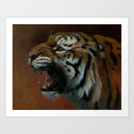 Tiger oil029 Art Print
