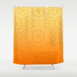 Orange & Yellow Islamic Geometrical Pattern Shower Curtain