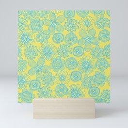 floral pattern Mini Art Print
