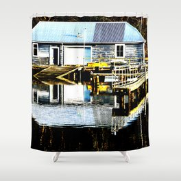 Port Chalmers Boat House Shower Curtain