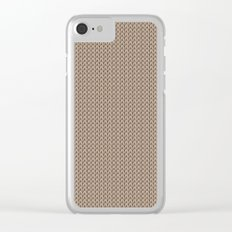 Knitted spring colors - Pantone Hazelnut Clear iPhone Case