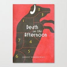Death in the Afternoon, Erenst Hemingway - Book Cover Canvas Print