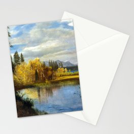 Albert Bierstadt Outlet at Lake Tahoe Stationery Cards