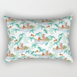 Jungle Jacuzzi Pattern Rectangular Pillow
