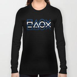 Playstation Controller Pattern - Navy Blue Long Sleeve T-shirt