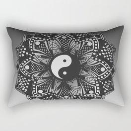 Yin and Yang Mandala (Black & White) Rectangular Pillow