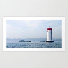 French Lighthouse. France. Bretagne. Art Print