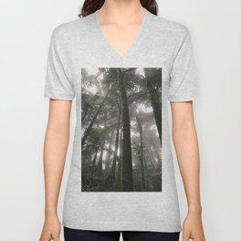 Tropical Jungle - Palm Trees Unisex V-Neck