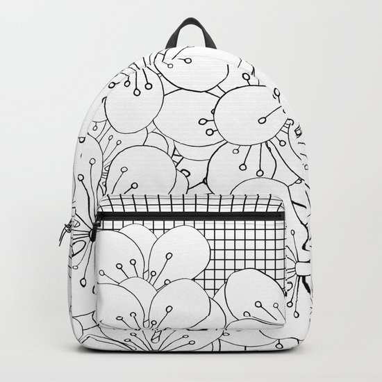 Cherry Blossom Grid - In Memory of Mackenzie Backpack