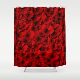 red butterflies Shower Curtain