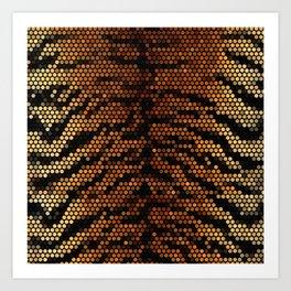 tiger, golden, brouwn Art Print